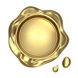 Воск золотого уплотнения Стоковое Изображение RF