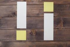 Восклицательный знак бумаги Стоковое фото RF