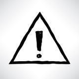 Восклицательный знак Знак изолированный над белой предпосылкой Стоковые Фото
