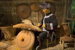 Воск о сплетя шляпе с бамбуком стоковая фотография rf