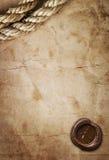 воск уплотнения пустой бумаги Стоковые Изображения