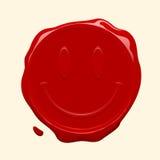 воск smiley уплотнения стороны Стоковая Фотография RF