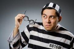 Воспитанник тюрьмы в смешном Стоковые Фото