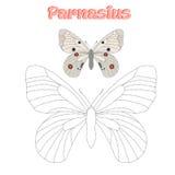 Воспитательная игра соединяет точки к бабочке притяжки Стоковая Фотография