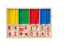 Воспитательная игрушка математики детей Стоковые Фотографии RF