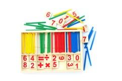 Воспитательная игрушка математики детей Стоковое фото RF