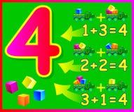 Воспитательная страница для детей с составами 4 иллюстрация штока