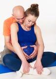 Воспитательная тренировка перед рождением к первенцу стоковая фотография