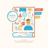 Воспитательное infographics в плоском стиле Стоковые Фотографии RF
