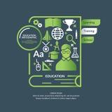 Воспитательное infographics в плоском styl Стоковая Фотография