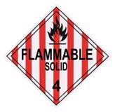 воспламеняющее предупреждение твердого тела плаката Стоковая Фотография RF