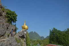 Воспроизведите пагоду Kyaiktiyo на монастыре Ya животиков Tai Стоковая Фотография RF