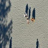 Воссоздание туристов на побережье Чёрного моря пляжа Mamaia Стоковые Фото