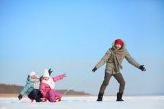 Воссоздание зимы Стоковые Изображения RF
