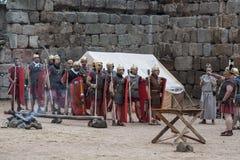 Воссоздание римского столетия в средневековом фестивале Стоковые Фотографии RF