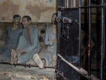 Воссозданная сцена в тюрьме Dao жулика, Вьетнаме Стоковые Фотографии RF
