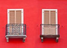 2 балкона стоковая фотография rf