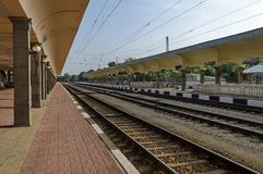 Восстанавливать старую станцию железной дороги, уловка, Болгария Стоковые Изображения