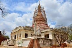 Восстановите пагоду в зоне Bagan археологической Стоковые Изображения