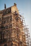 Восстановление декоративных элементов виска Virupaksha Стоковая Фотография RF