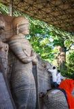 Восстановление исторического комплекса Gal Vihara стоковые фотографии rf
