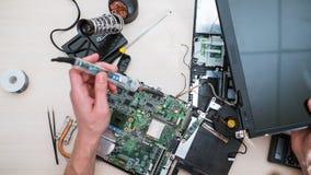 Восстановление компьютера технологии подъема компьтер-книжки Стоковые Фото