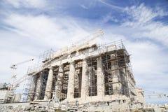 Восстановление Парфенона стоковое изображение