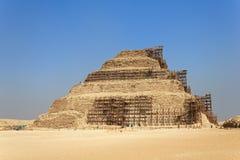 восстановление пирамидки djoser стоковая фотография