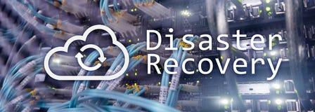 Восстановление после стихийного бедствия Предохранение потери данных Комната сервера на предпосылке стоковая фотография rf