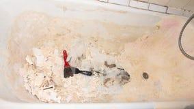Восстановление старой ванны стоковая фотография rf