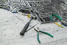 Восстановление цветного стекла стоковые фотографии rf