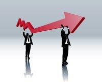 восстановление экономики иллюстрация вектора