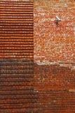Восстановленная средневековая кирпичная стена Стоковая Фотография