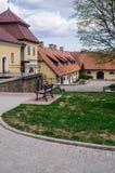Восстановленное старое поместье Shlokenbek в Латвии Имущество над 600 летами старыми 5-ое мая 2019, Латвия стоковое фото