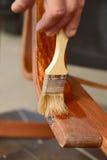 Восстановление деревянных стульев Стоковая Фотография RF