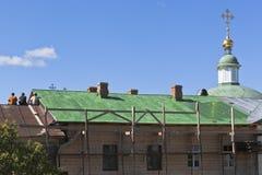 Восстановление клеток монастыря в монастыре зоны Vologda, России Voskresensky Goritsky Стоковые Изображения