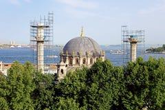 Восстановление мечети Nusretiye в Karakoy, Стамбуле, Турции Стоковое фото RF