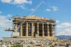 Восстановление Парфенона, Афины Стоковые Фотографии RF