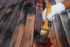 Восстановление старых деревянных поверхностей Стоковая Фотография RF