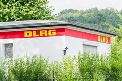 Восстановленная станция DLRG на Baldeneysee Стоковое Изображение RF