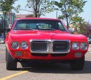 Восстановленный классический красный Pontiac Firebird Стоковые Фото