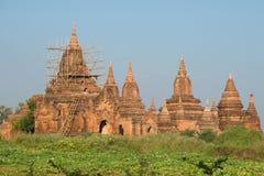 Восстановленный старый комплекс буддийского виска около старого Bagan myanmar Стоковое Изображение RF