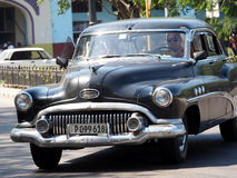 Восстановленный черный автомобиль в Гаване Кубе Стоковое Изображение
