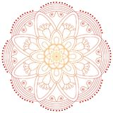 Востоковедная картина Традиционный круглый орнамент расцветки мандала Стоковое фото RF