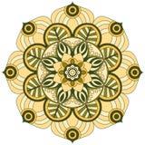 Востоковедная картина Традиционный круглый орнамент расцветки мандала Стоковое Фото