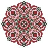 Востоковедная картина Традиционный круглый орнамент расцветки мандала Стоковые Изображения