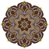 Востоковедная картина Традиционный круглый орнамент расцветки мандала Стоковые Фотографии RF