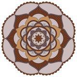 Востоковедная картина Традиционный круглый орнамент расцветки мандала Стоковые Изображения RF