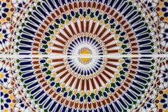 Востоковедная мозаика в Марокко Стоковое фото RF
