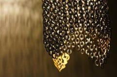 Востоковедный бронзовый светильник Стоковое Фото